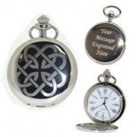 Celtic Knot (2) Pocket Watch Roman Numerals Quartz